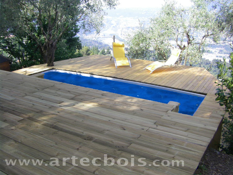 terrasse en bois pour piscine hors sol. Black Bedroom Furniture Sets. Home Design Ideas
