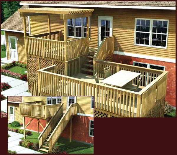 Artecbois terrasses en bois pos es platelages et - Terrasse bois en hauteur ...