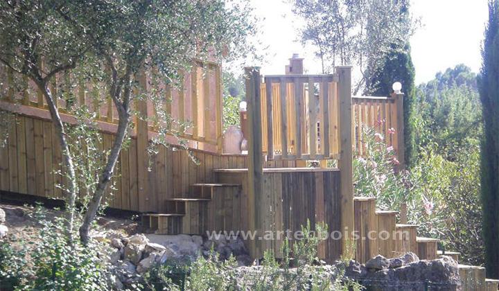 Artecbois terrasses en bois et amenagements exterieurs en bois nice 06 sion valais suisse - Cabane jardin valais besancon ...