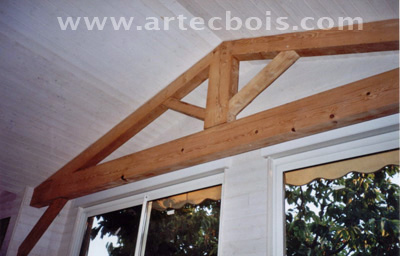 extension maison en bois interieur