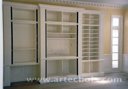 Artecbois menuiserie d 39 agencement haut de gamme sur - Bibliotheque sur mesure prix ...