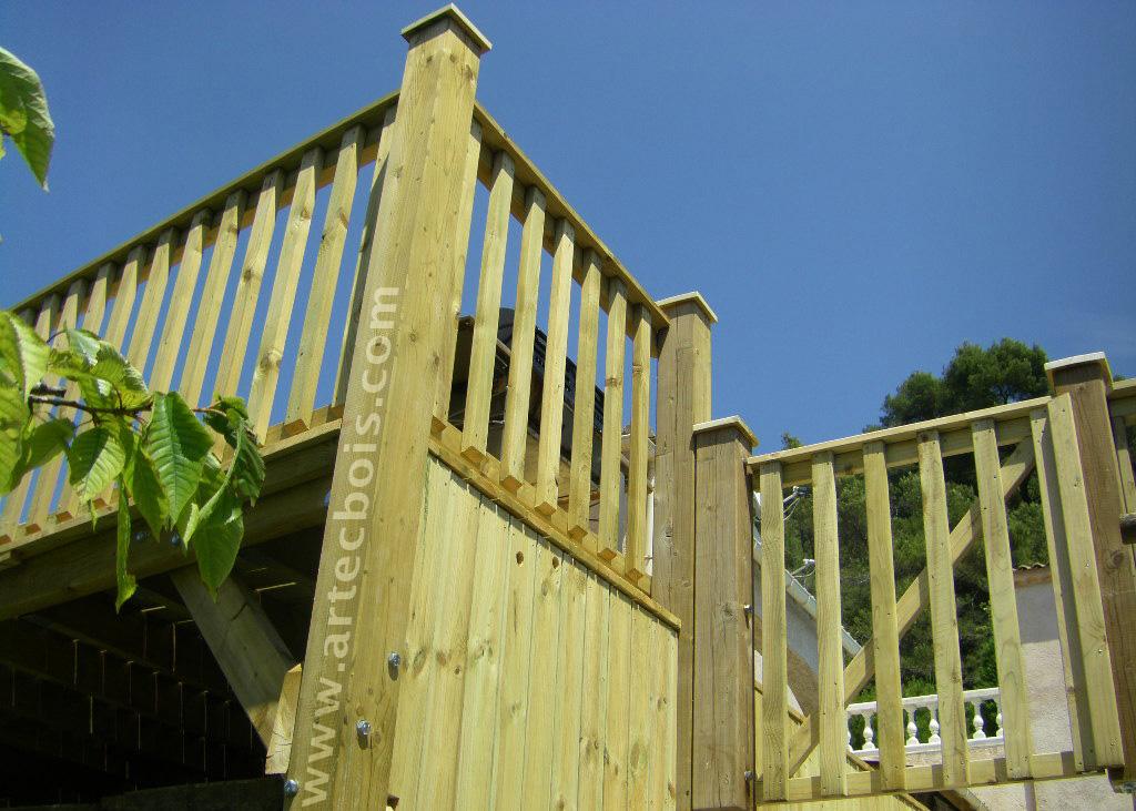 Artecbois terrasses en bois et amenagements exterieurs en for Portillon terrasse