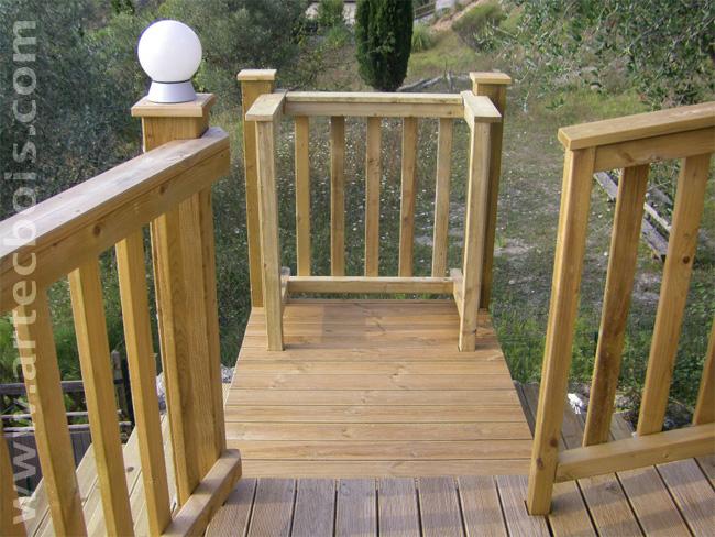 Artecbois terrasses en bois en hauteur suspendues ou sur poteaux porteurs et - Construire garde corps ...