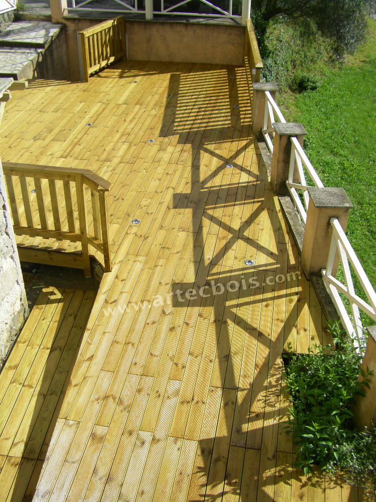 Sol Bois Pour Terrasse Extérieure artecbois terrasses en bois posées platelages et structure