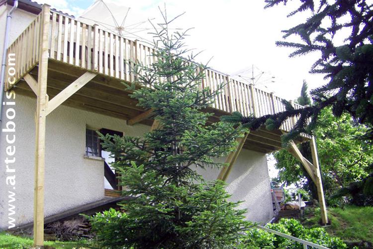 artecbois balcons en bois et terrasses suspendues et. Black Bedroom Furniture Sets. Home Design Ideas