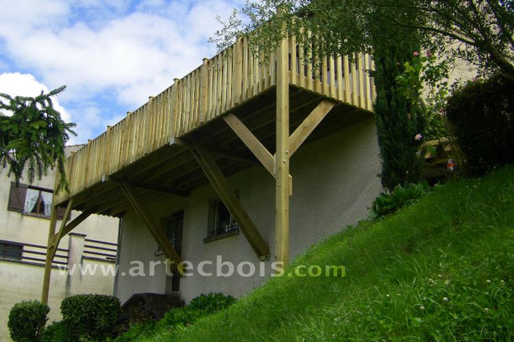 artecbois balcons en bois et terrasses suspendues et balcons en bois en hauteur nice cote d. Black Bedroom Furniture Sets. Home Design Ideas